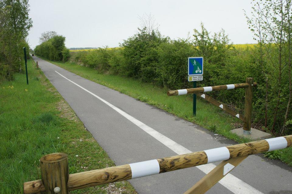 Début de la partie 100km, Voie verte Trans'Oise