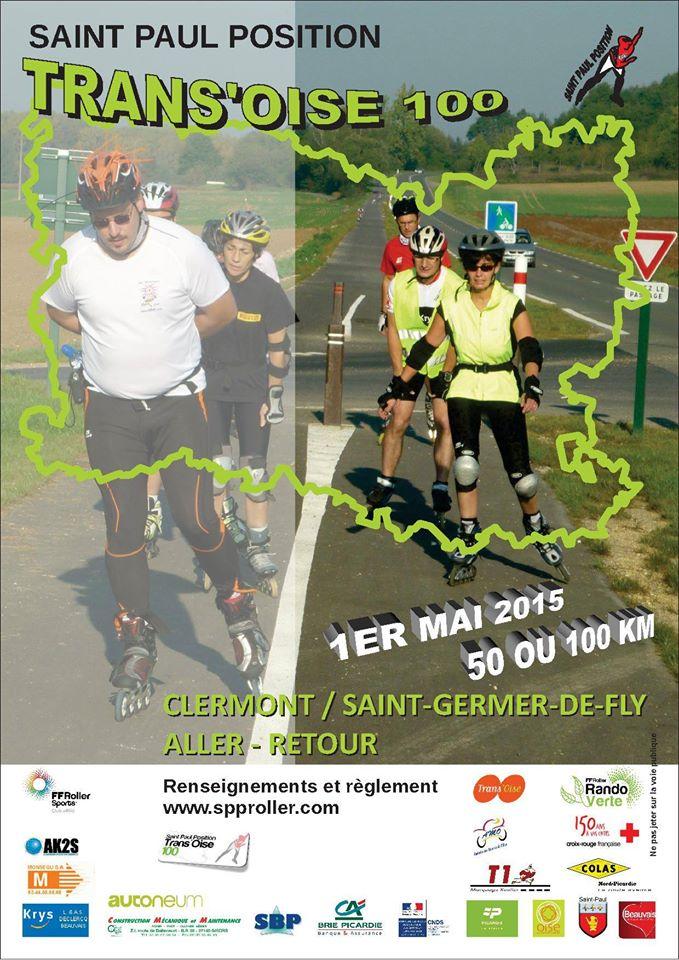 Affiche de la rando Trans'Oise roller 2015
