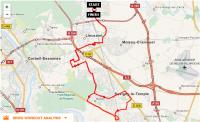 Parcours CLV-Carre-Nandy-Cesson et retour