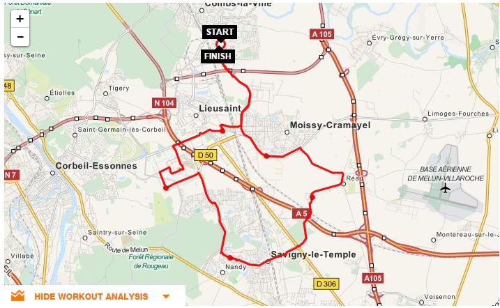 Parcours CLV-Carre-Nandy-Savigny-Reau-Moissy
