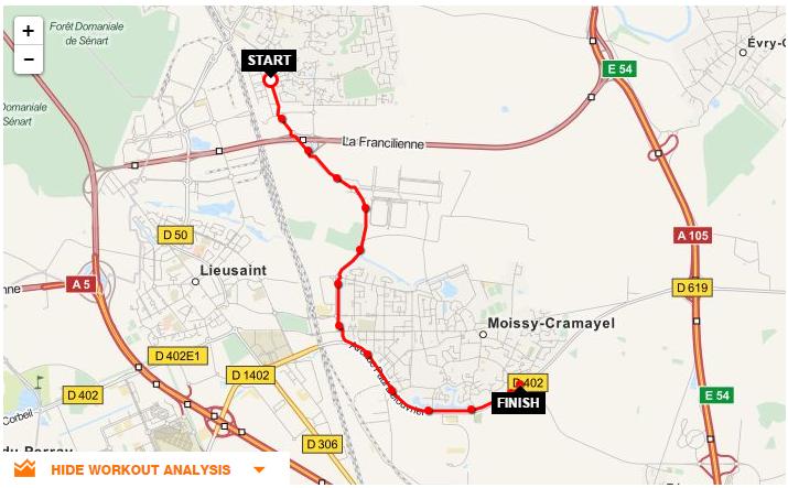 Parcours CLV-tour de Moissy