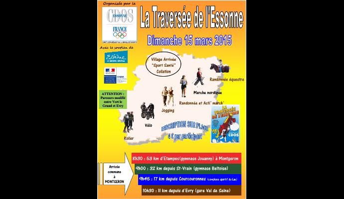 Affiche officielle de la randonnée Traversée de l'Essonne 2015